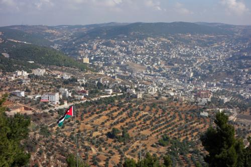 Výhled na město Ajloun