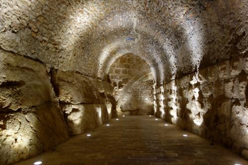 Prostory v hradě Ajloun
