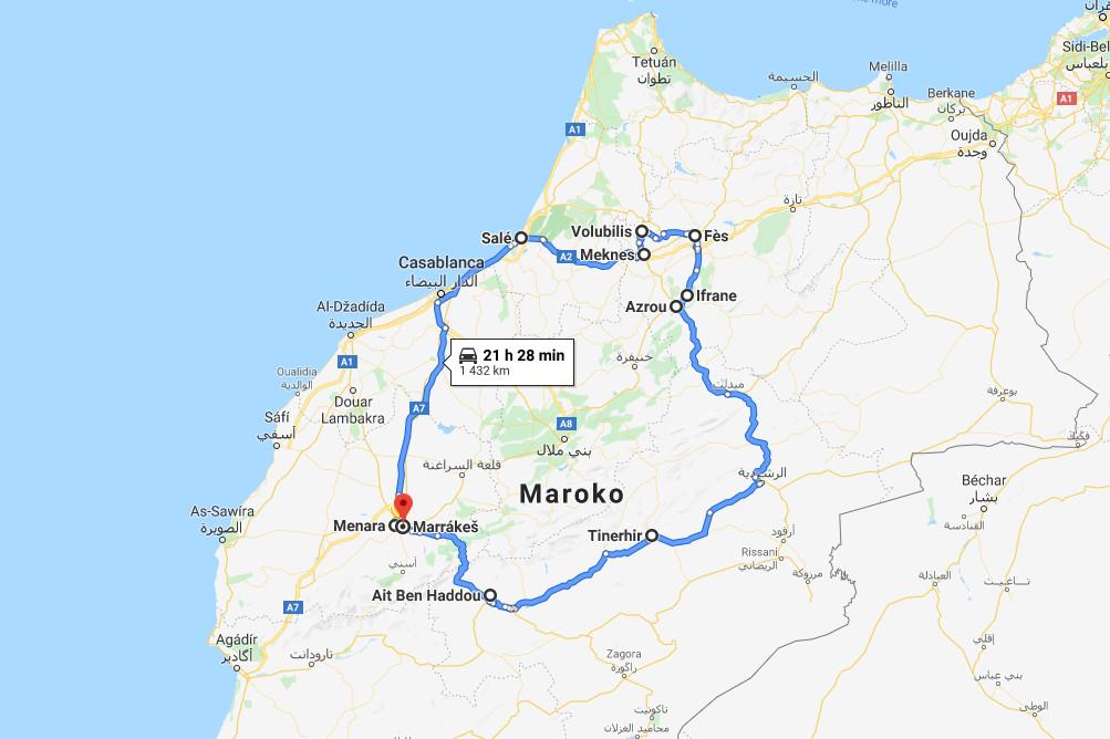 Maroko Cestovni Zapisnik