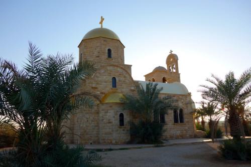 Kostel u hranic s Izraelem