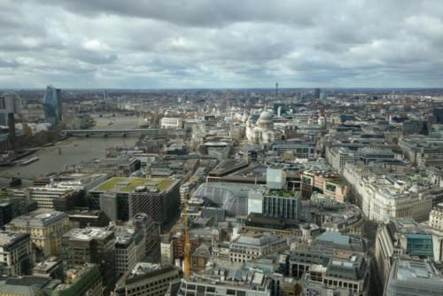 Londýn - Sky Garden - výhled