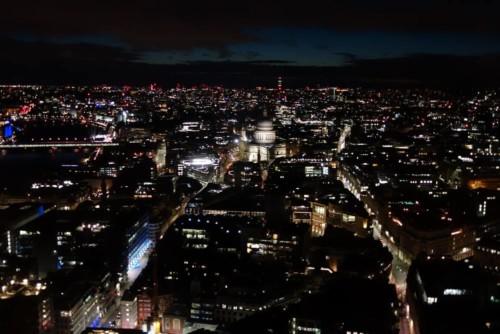 Londýn - Sky Garden - noční výhled